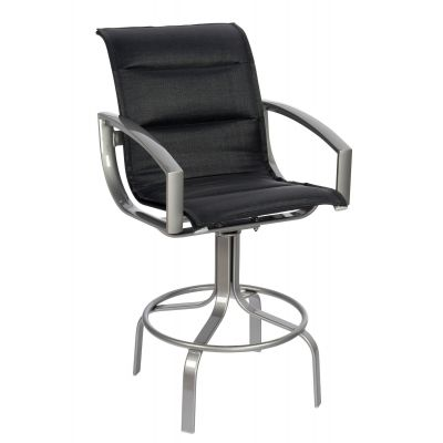 Metropolis Padded Sling Swivel Bar Stool