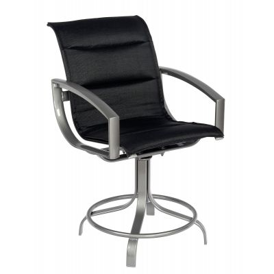 Metropolis Padded Sling Swivel Counter Stool