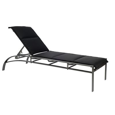 Metropolis Padded Sling Adjustable Chaise Lounge - Stackable