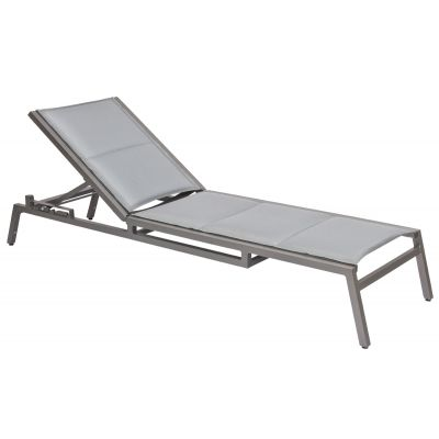 Palm Coast Padded Sling Adjustable Chaise Lounge - Stackable