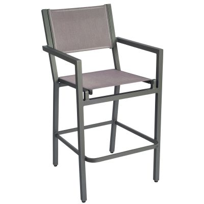 Palm Coast Sling Bar Stool with Arms