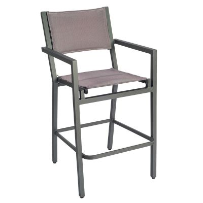 Palm Coast Padded Sling Bar Stool with Arms