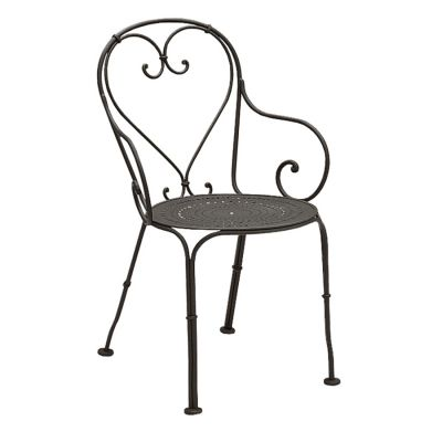 Parisienne Arm Chair - Pattern Metal Seat