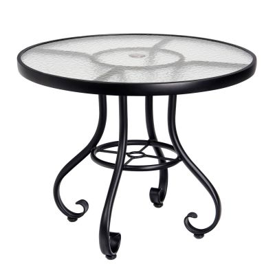 "Ramsgate 48"" Umbrella Table - Obscure Glass"