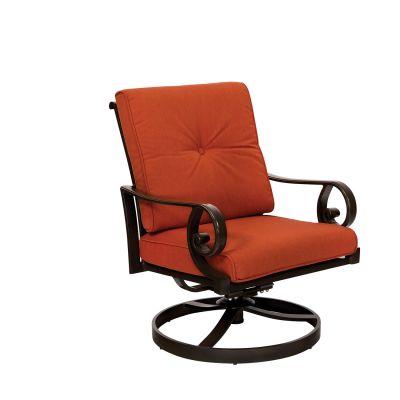 Santa Monica Cushion Swivel Rocking Dining Chair