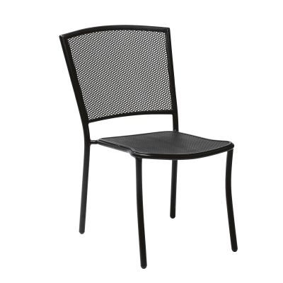 Café Series Albion Textured Black Side Chair - Stackable