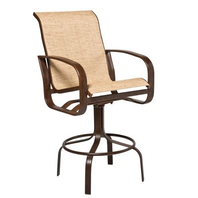 Cayman Isle Sling Swivel Bar Stool