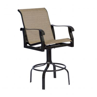 Cortland Sling Swivel Bar Stool