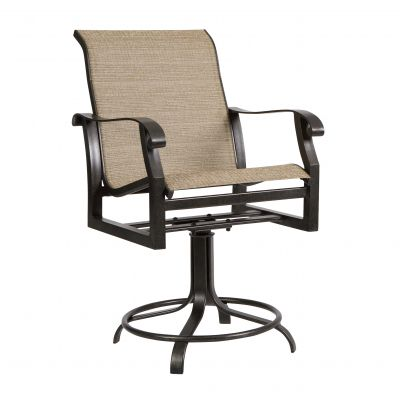 Cortland Sling Swivel Counter Stool