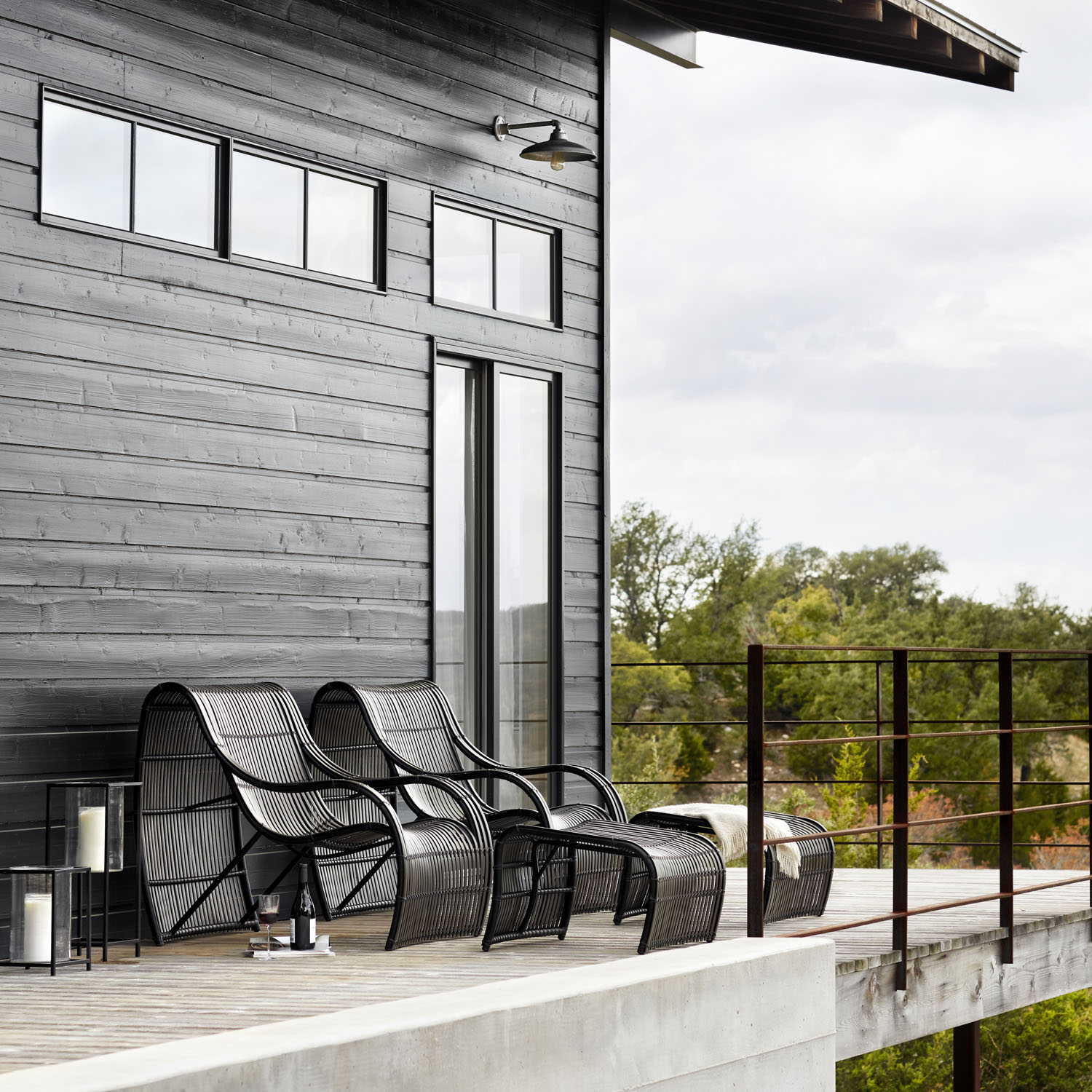 Loft Outdoor Lounge Chairs by Woodard Furniture