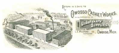 Owosso Casket Factory Ephemera