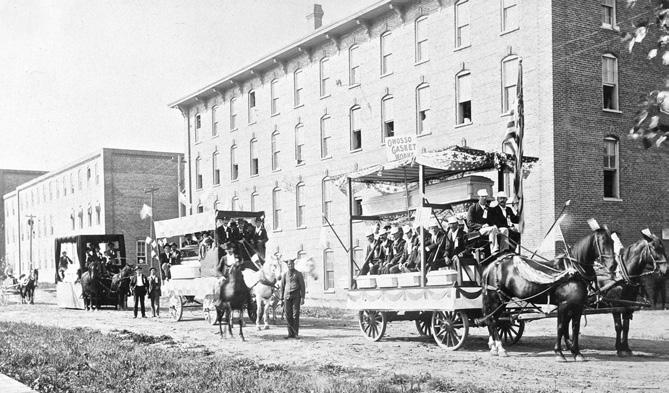 1885 Owosso Labor Day parade - Owosso Casket Company